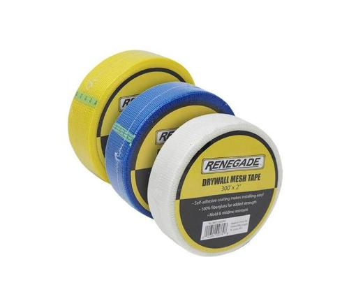 2 in x 300 ft Renegade Tools Mesh Tape - White