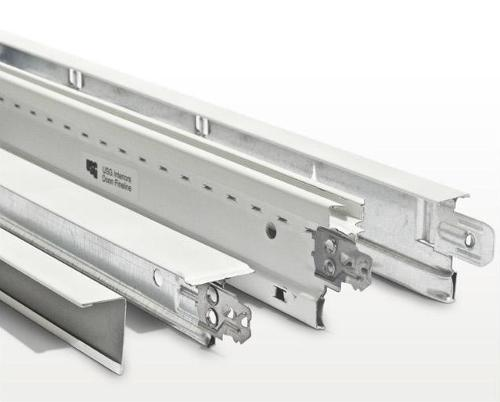 12 ft x 7/8 in x 7/8 in USG Aluminum Wall Angle Molding - M7A