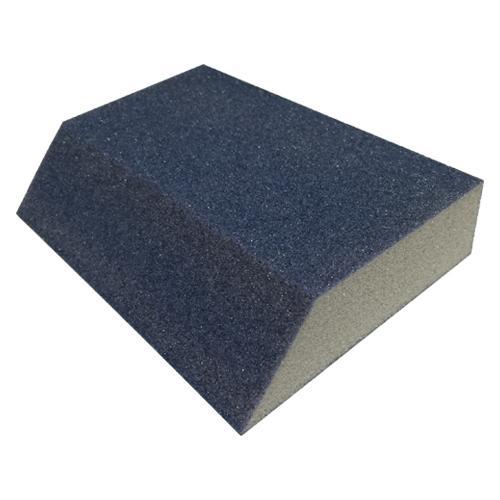1 in x 3 in x 5 in Webb Abrasives Large Single Angle Sanding Block - Fine+
