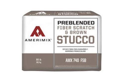 Amerimix Fiber Scratch & Brown Stucco - 80 lb