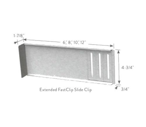 1 7/8 in x 4 3/4 in x 8 in x 14 Gauge ClarkDietrich EXTENDED FCEC FastClip Slide Clips