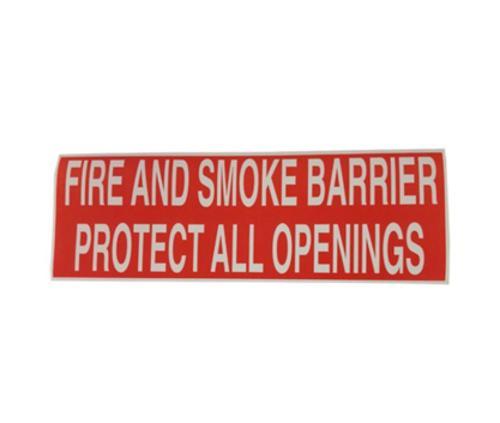 Fire & Smoke Barrier Warning Labels