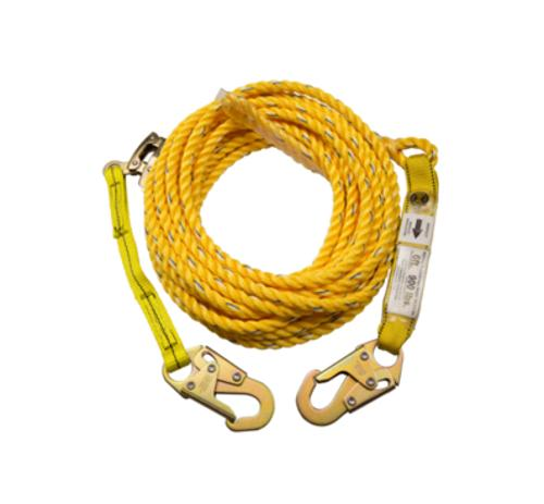 50 ft Guardian Fall Protection Poly Steel Rope Vertical Lifeline Assembly