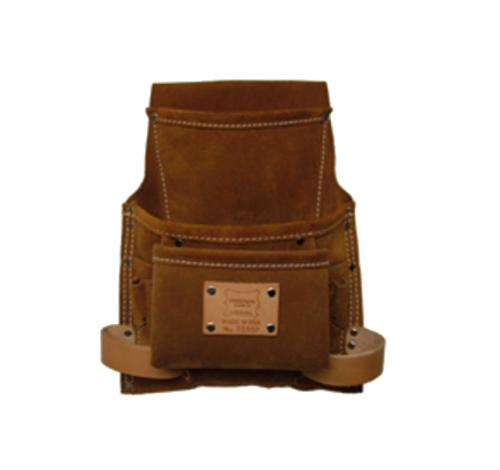 Heritage Leather 9 Pocket Professional Suede Nail and Tool Bag