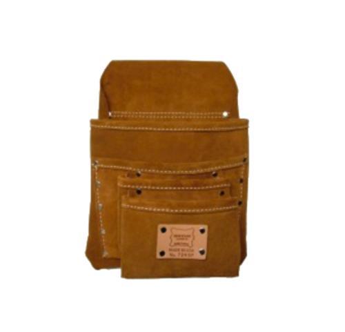 """Heritage Leather Split Leather """"SIDEKICK-4"""" Nail Bag"""