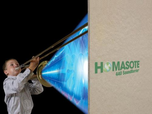 1/2 in x 4 ft x 8 ft Homasote 440 SoundBarrier