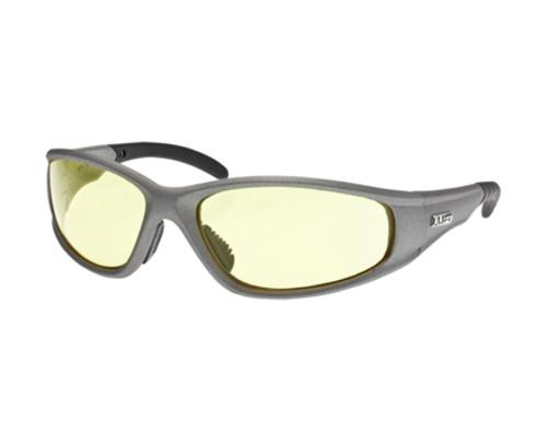 LIFT Pro Series Strobe Safety Glasses - Silver Frame/Yellow Lens