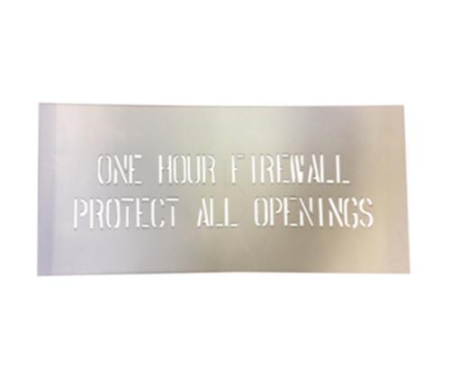 1 Hour Firewall Stencil