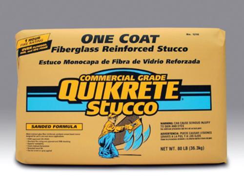 QUIKRETE One Coat Fiberglass Reinforced Stucco Gray - 80 lb
