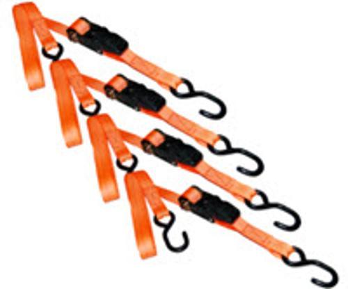 1 in x 15 ft S-Line Ratchet Tie Down - Orange