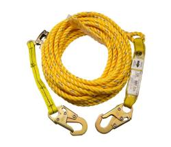 25 ft Guardian Fall Protection Poly Steel Rope Vertical Lifeline Assembly