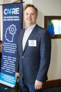 Adam Waitkunas of Milldam Public Relations participates in CAPRE's Seventh Annual Northern California Data Center Summit, held on February 20, 2018 at St. Francis Yacht Club in San Francisco, CA.