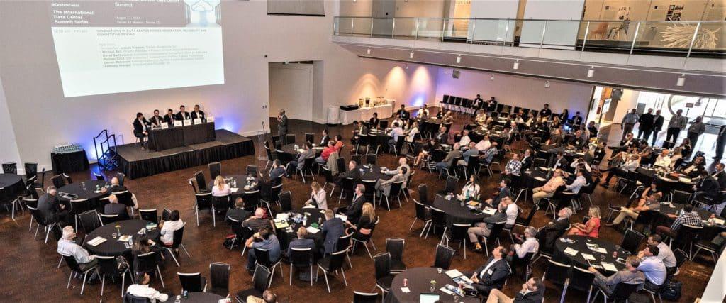 Above: CAPRE's inaugural Greater Denver Data Center Summit, held on August 17, 2017 at Denver Art Museum. 350 attended.