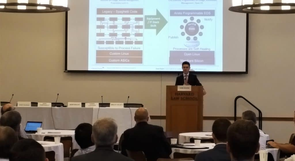 Above: Credit Suisse's Senior Analyst, Sami Badri, captured the attention of this Cambridge, MA audience with captivating insight and analysis. CAPRE's Greater Boston & New England Data Center Summit was held on June 19, 2018 at Harvard Law School in Cambridge, MA.
