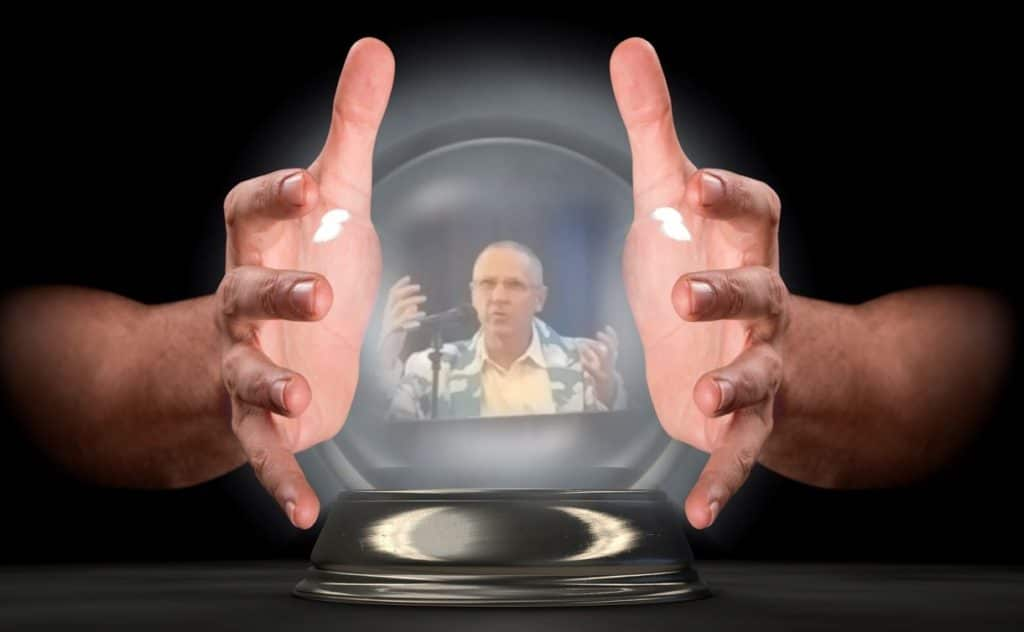 JLL's Allen C. Tucker, a frequent speaker with CAPRE, appears in this image of a crystal ball. On January 31, 2019, he will offer his much-anticipated observations of the coveted Mid-Atlantic data center market and forecast for the new year.