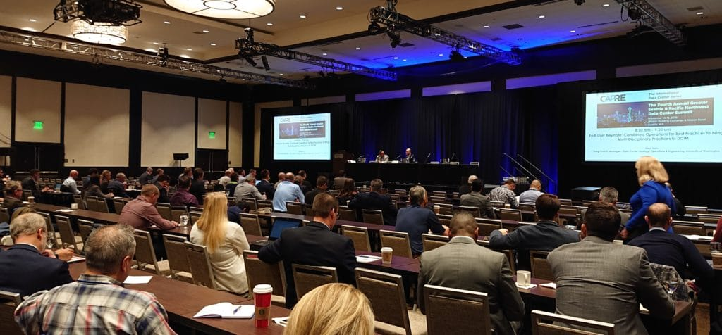 Above: 250 senior-level data center real estate and technology infrastructure executives participated in CAPRE's Fourth Annual Greater Seattle & Pacific Northwest Data Center Summit held on November 14-15, 2018 in Seattle.