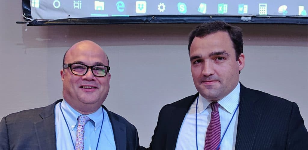 Ron Simoncini, President, Axiom Communications and Victor Cole, Principal, AION Partners participated in CAPRE's Eighth Annual New Jersey Apartment Summit, held on November 29, 2018 at Robert Treat Hotel in Newark.