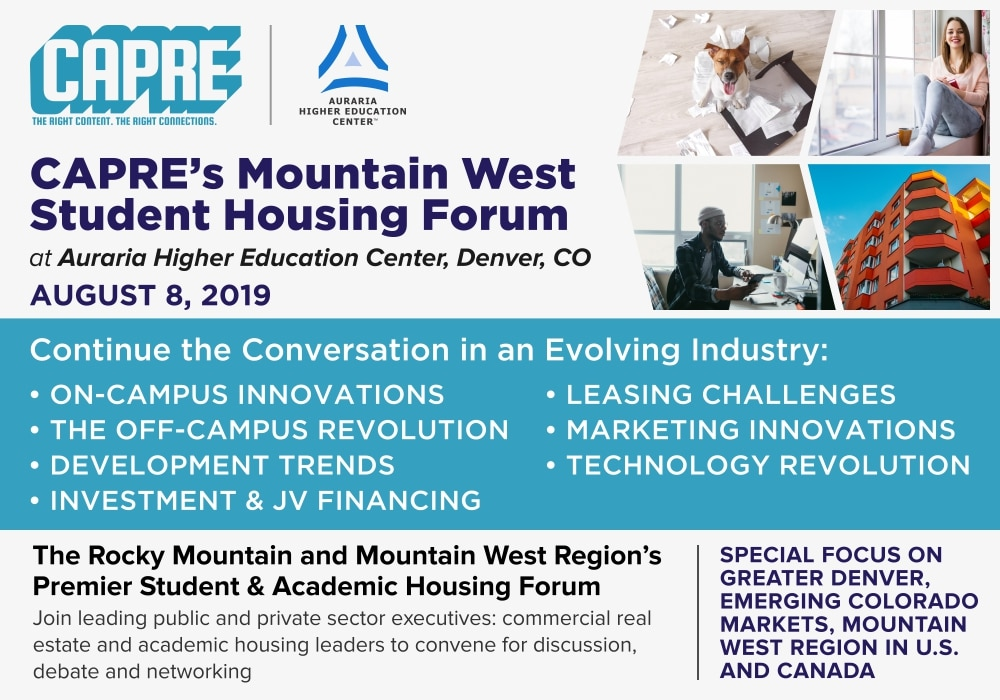 CAPRE's Mountain West Student Housing Forum | CAPRE MEDIA | CAPRE EVENTS