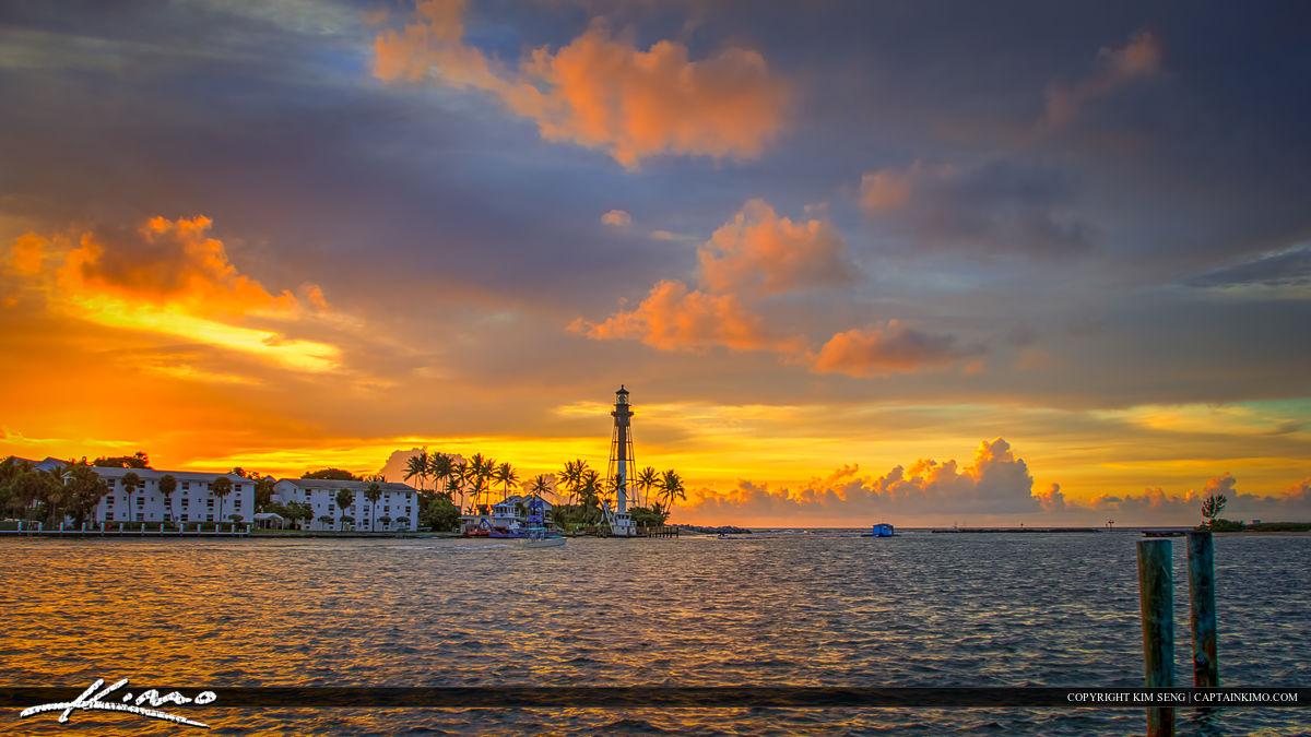 Hillsboro Lighthouse Pompano Beach Sunrise Wide Pano