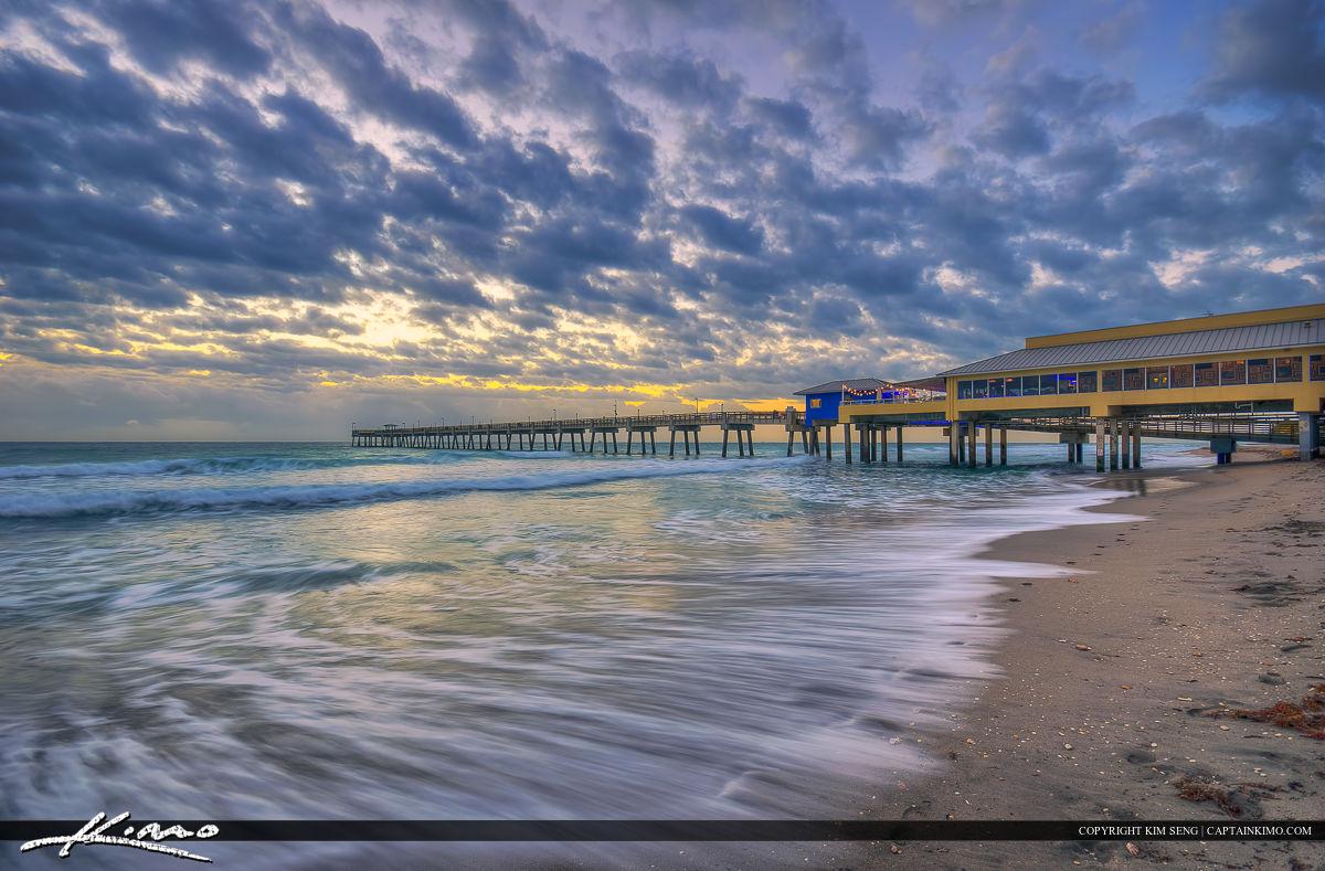 Dania Beach Pier Sunrise in Broward County