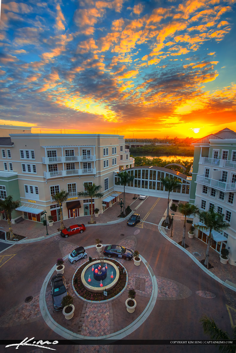 Harborside Place Sunset Waterway at the Circle