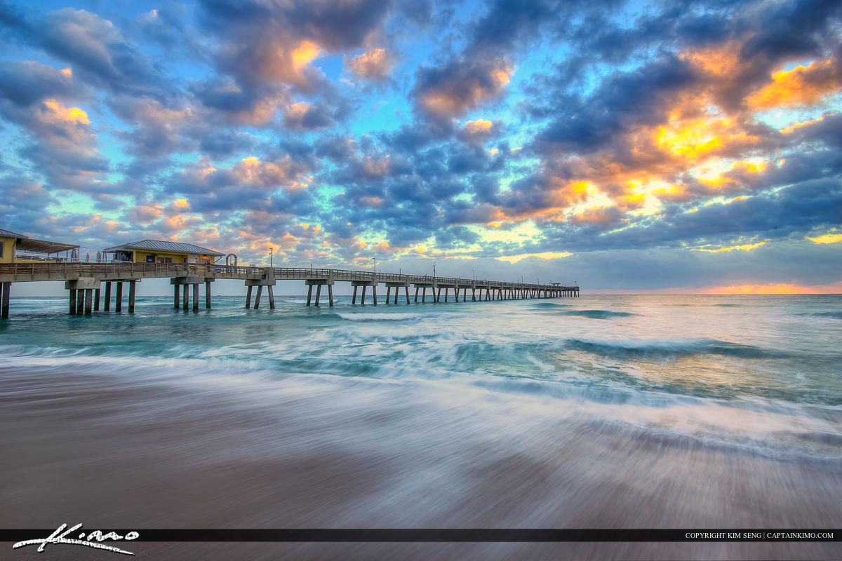 Dania Beach Pier Smooth Ocean Wave