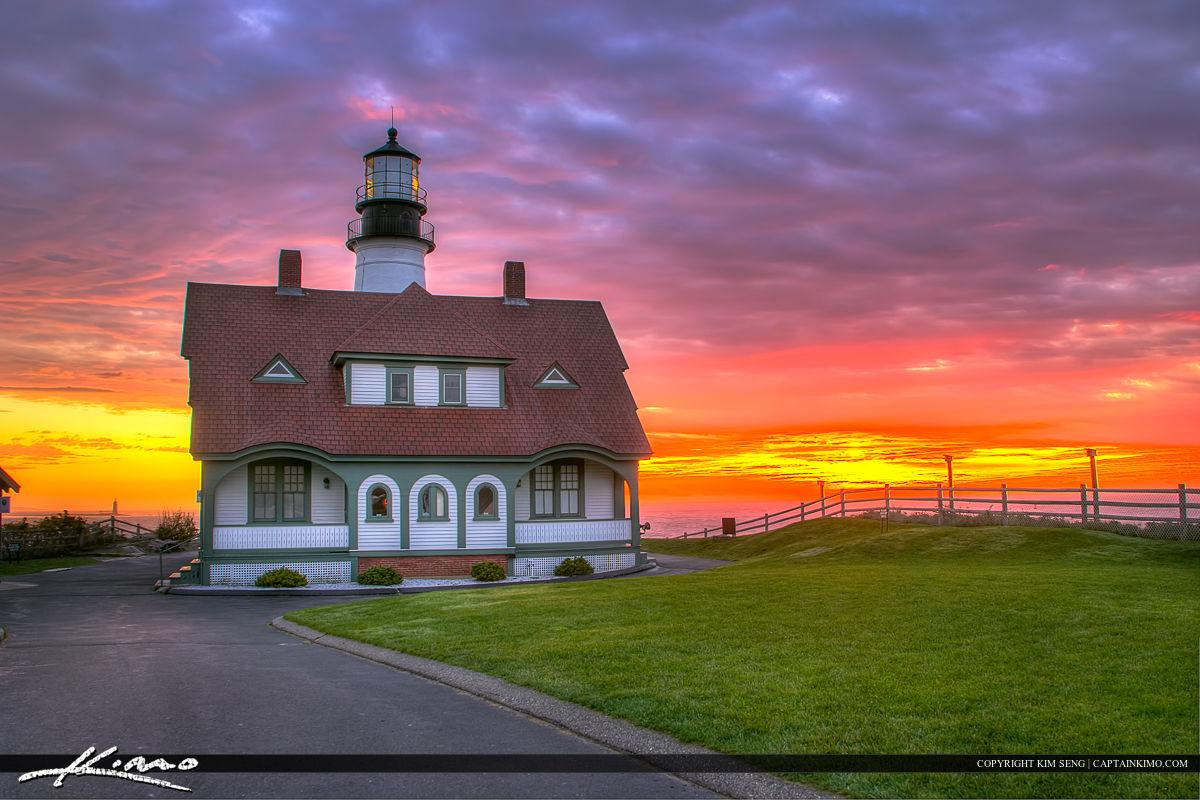 Portland Head Light Sunirse at Cape Elizabeth Maine