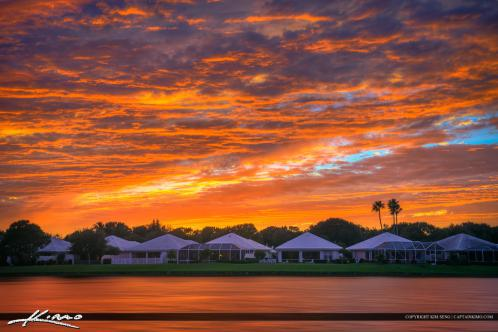 Sunset over palm beach gardens homes at lake catherine - Palm beach gardens mall shooting ...