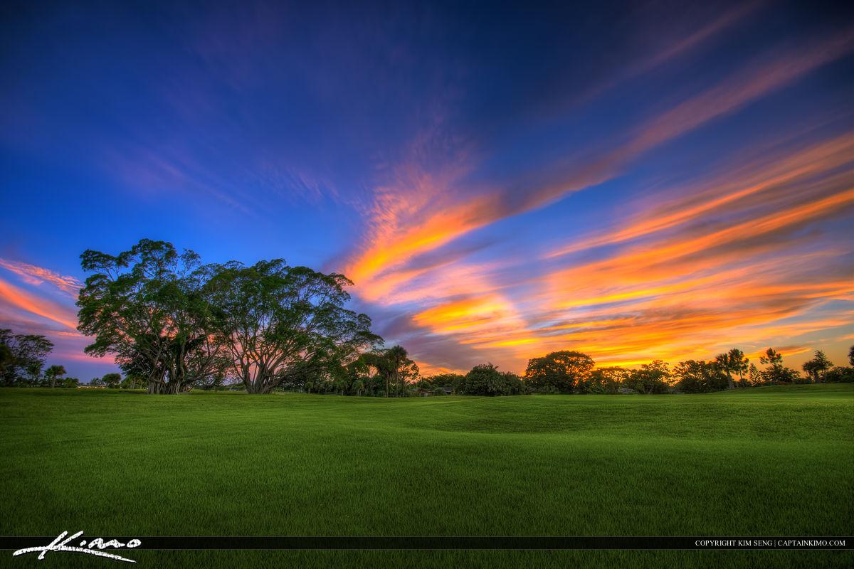 Commons Park Golf Course Sunset Royal Palm Beach