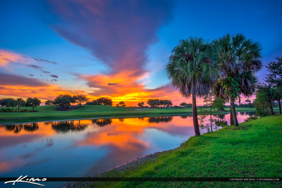 Sunset At The Golf Course In Abacoa Jupiter Florida Interiors Inside Ideas Interiors design about Everything [magnanprojects.com]