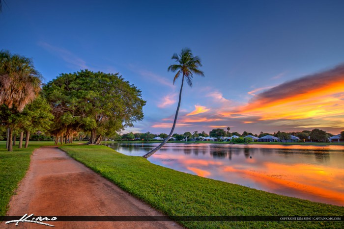 Sunset at lake in palm beach gardens florida - Palm beach gardens mall shooting ...