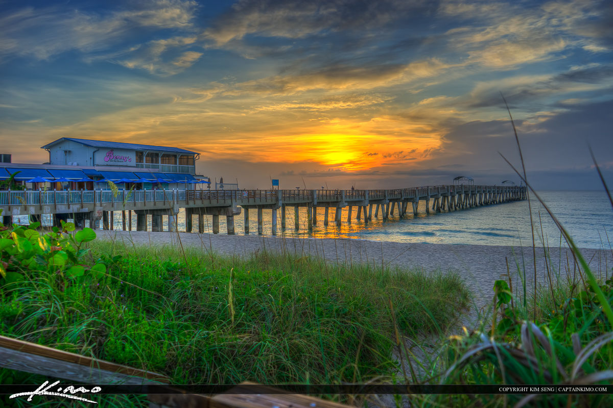 Lake Worth Pier Sunrise Over the Beach