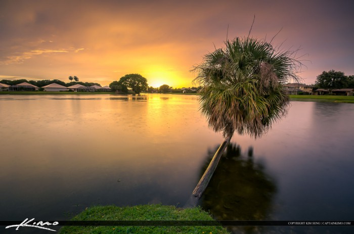 Warm colors after the storm at lake in palm beach gardens - Palm beach gardens mall shooting ...