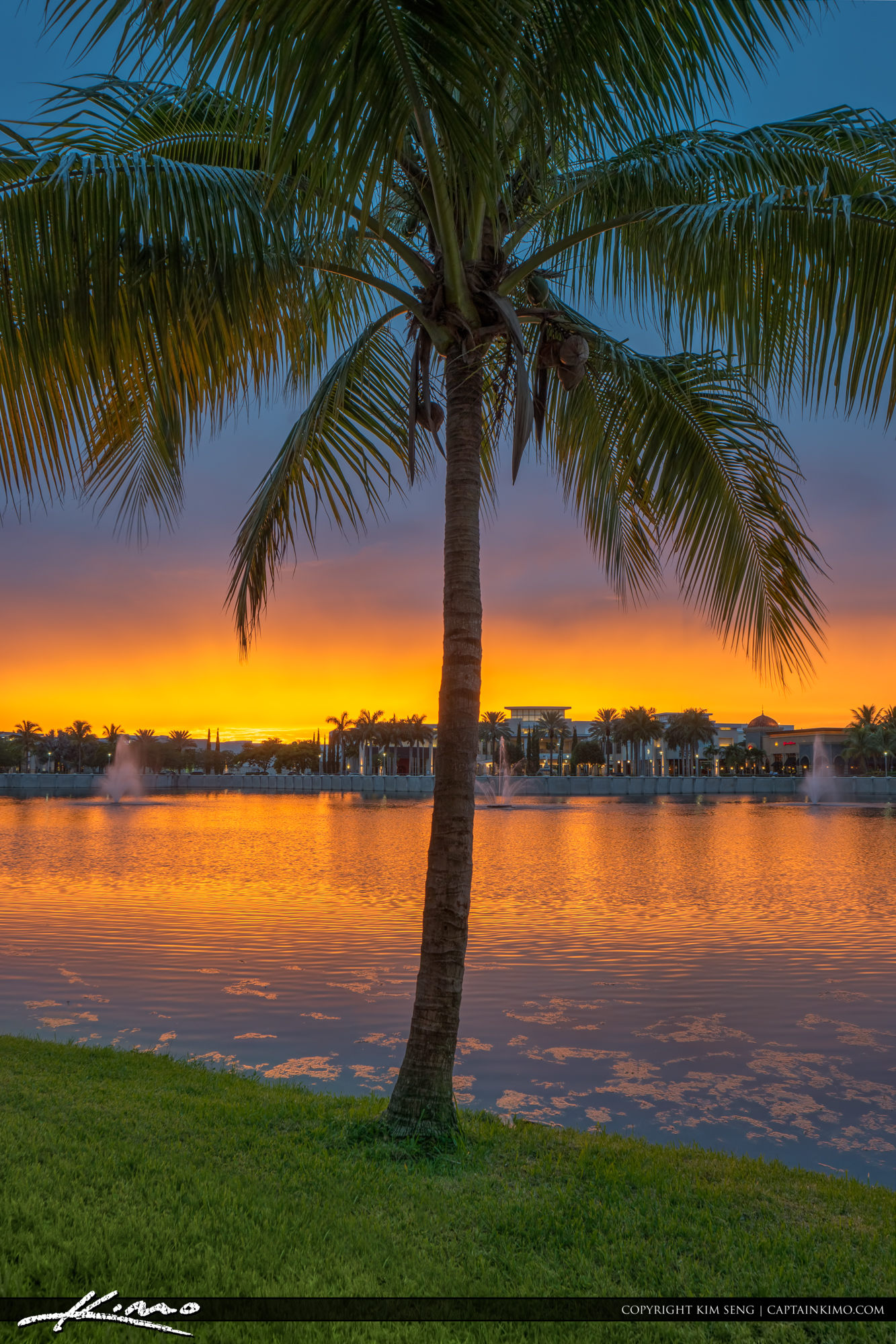 Sunset at the lake palm beach gardens downtown - Palm beach gardens mall shooting ...