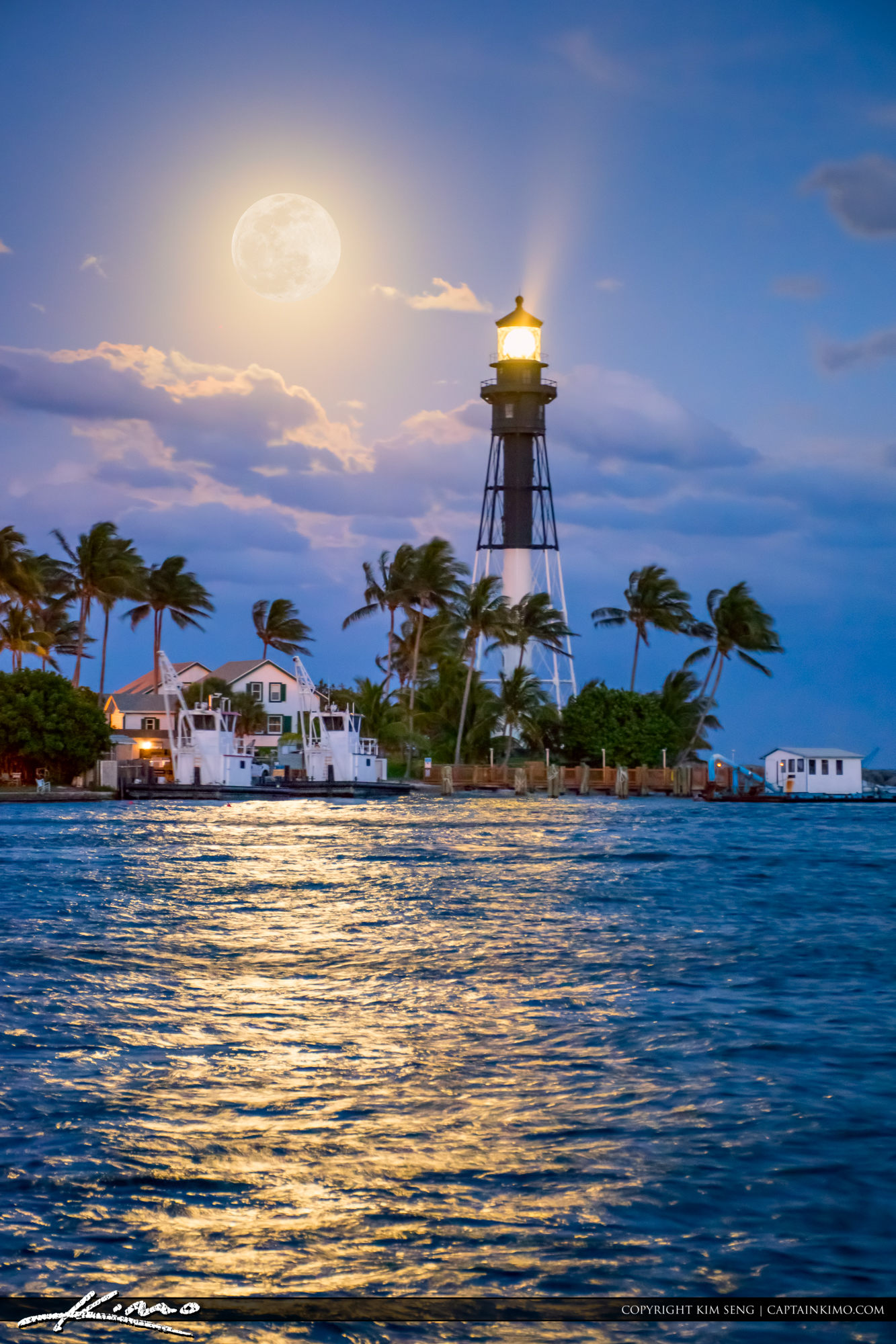 Hillsboro Lighthouse Full Moon