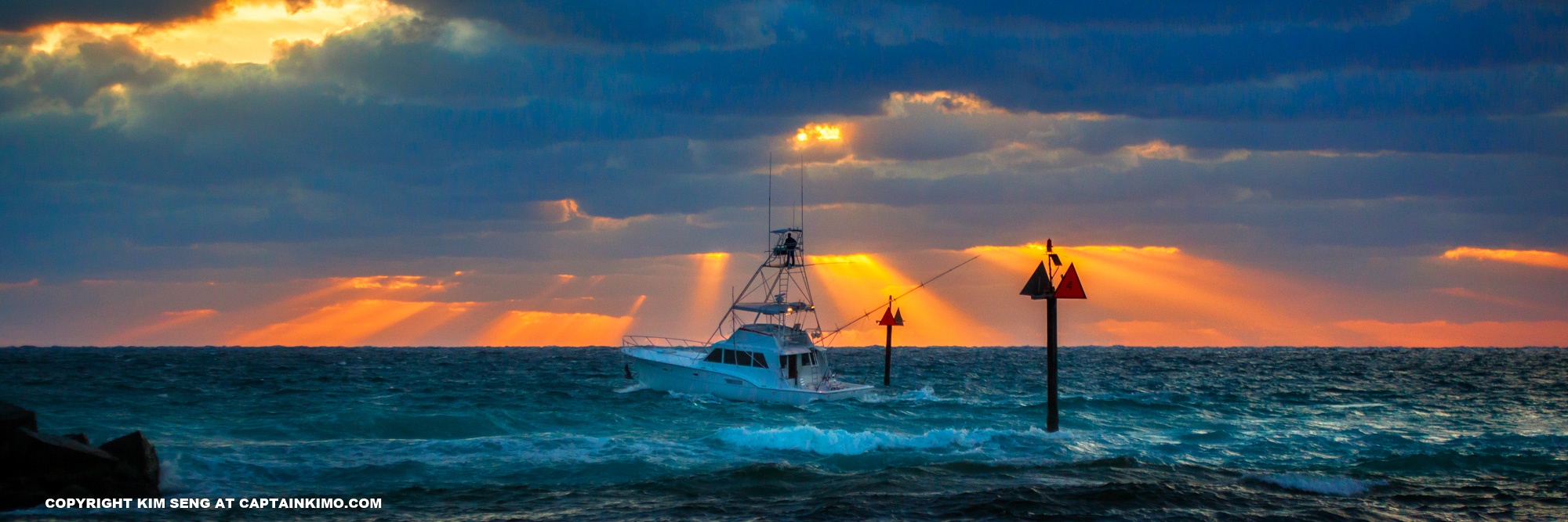 Salt Life Ocean Fishing Boat Sunrise Pompano Beach