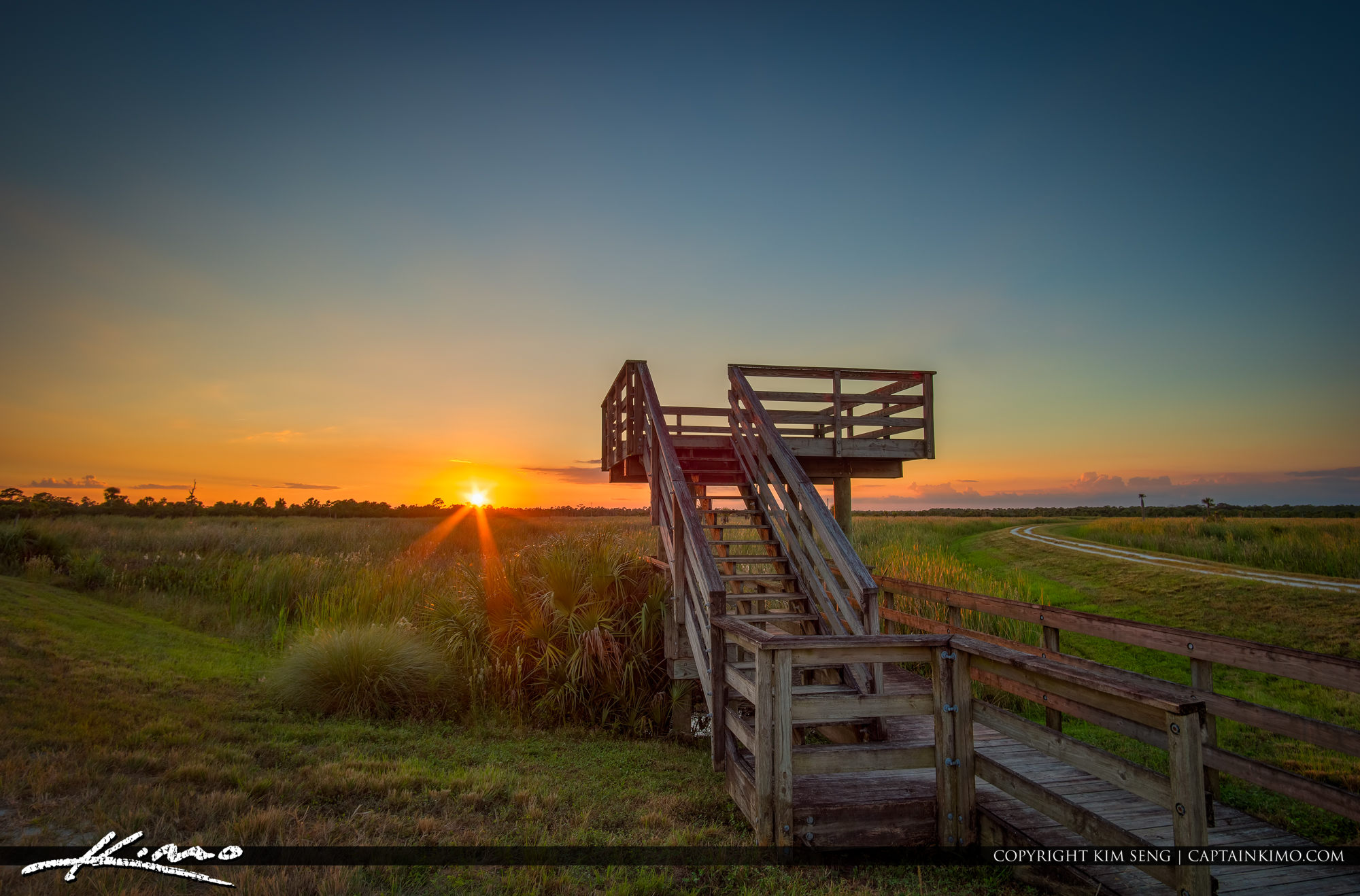Ritch Grissom Memorial Wetlands Sunset Over Look Out