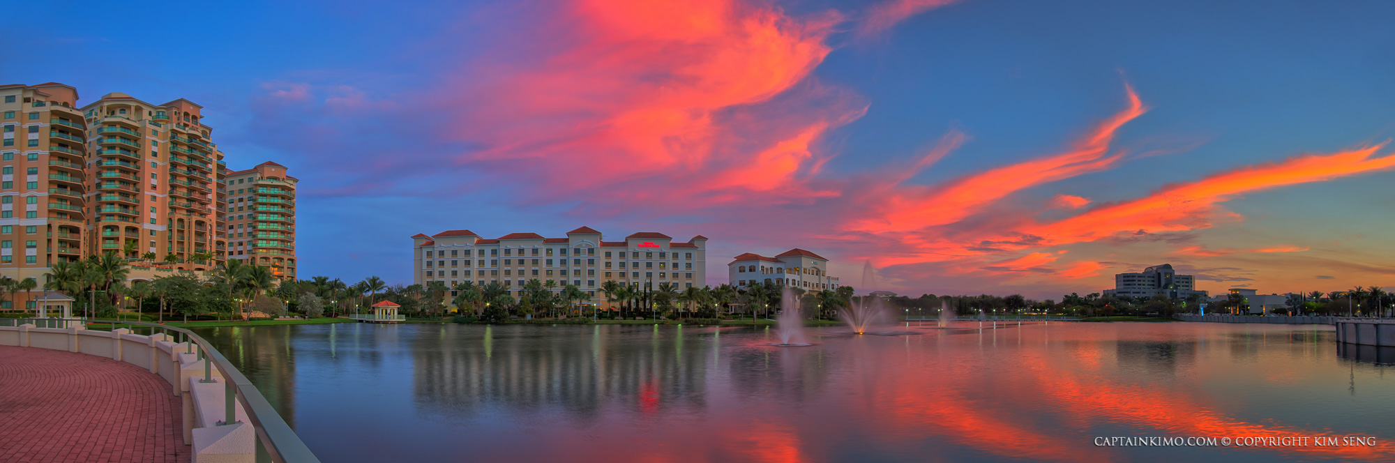 Hdr Panorama Palm Beach Gardens Downtown