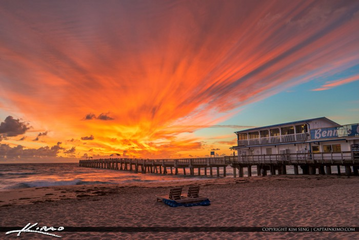 Lake worth pier explosive colors at sunrise for Lake worth pier fishing