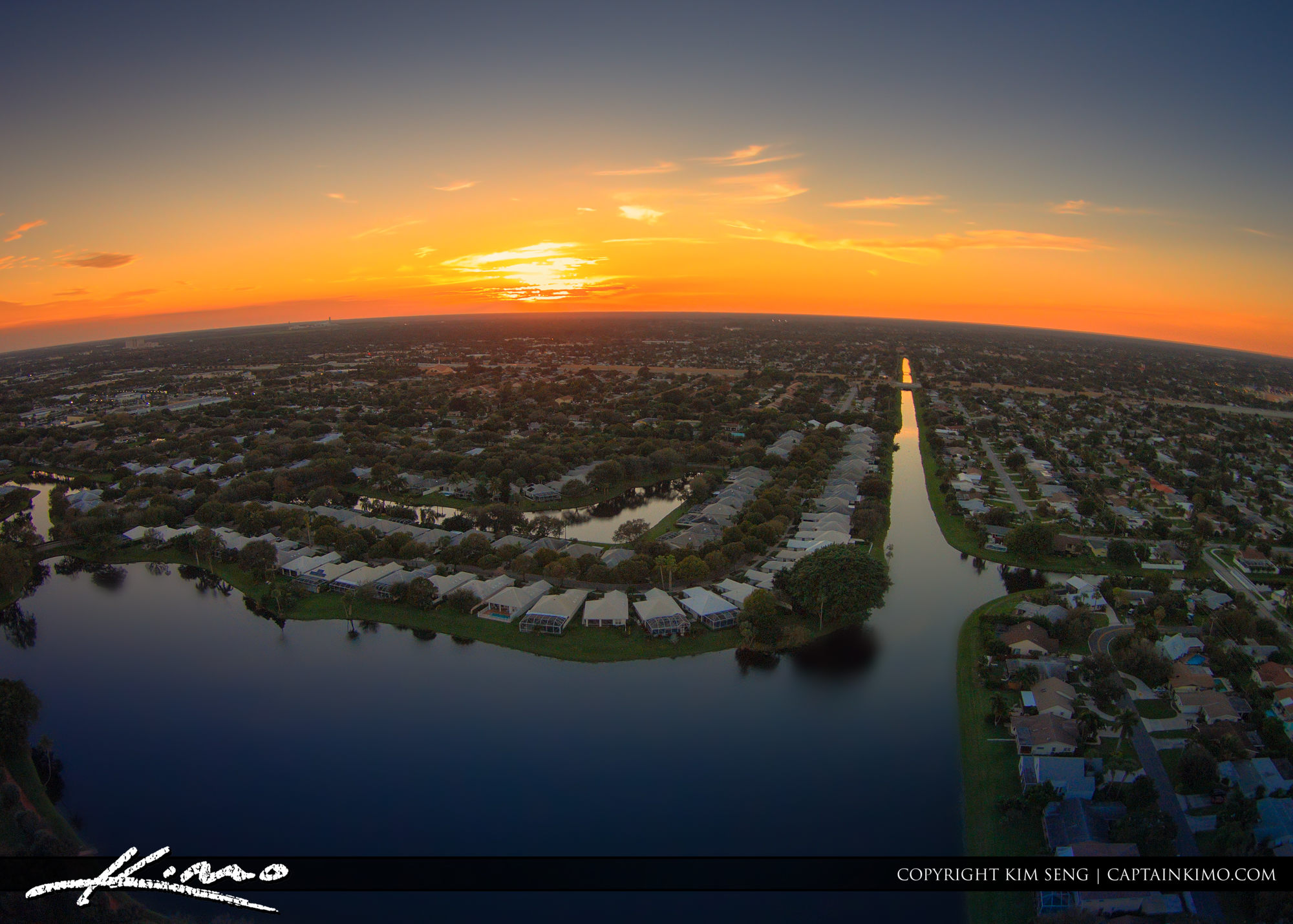 Sunset from palm beach gardens lake catherine aerial - Palm beach gardens mall shooting ...