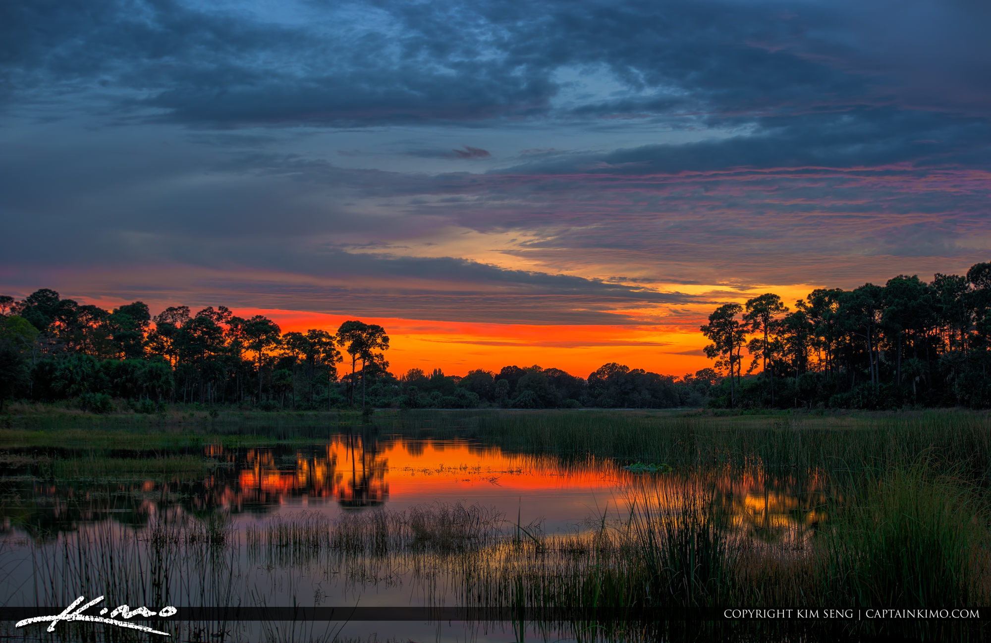 Sunset at Winding Waters Natural Area West Palm Beach