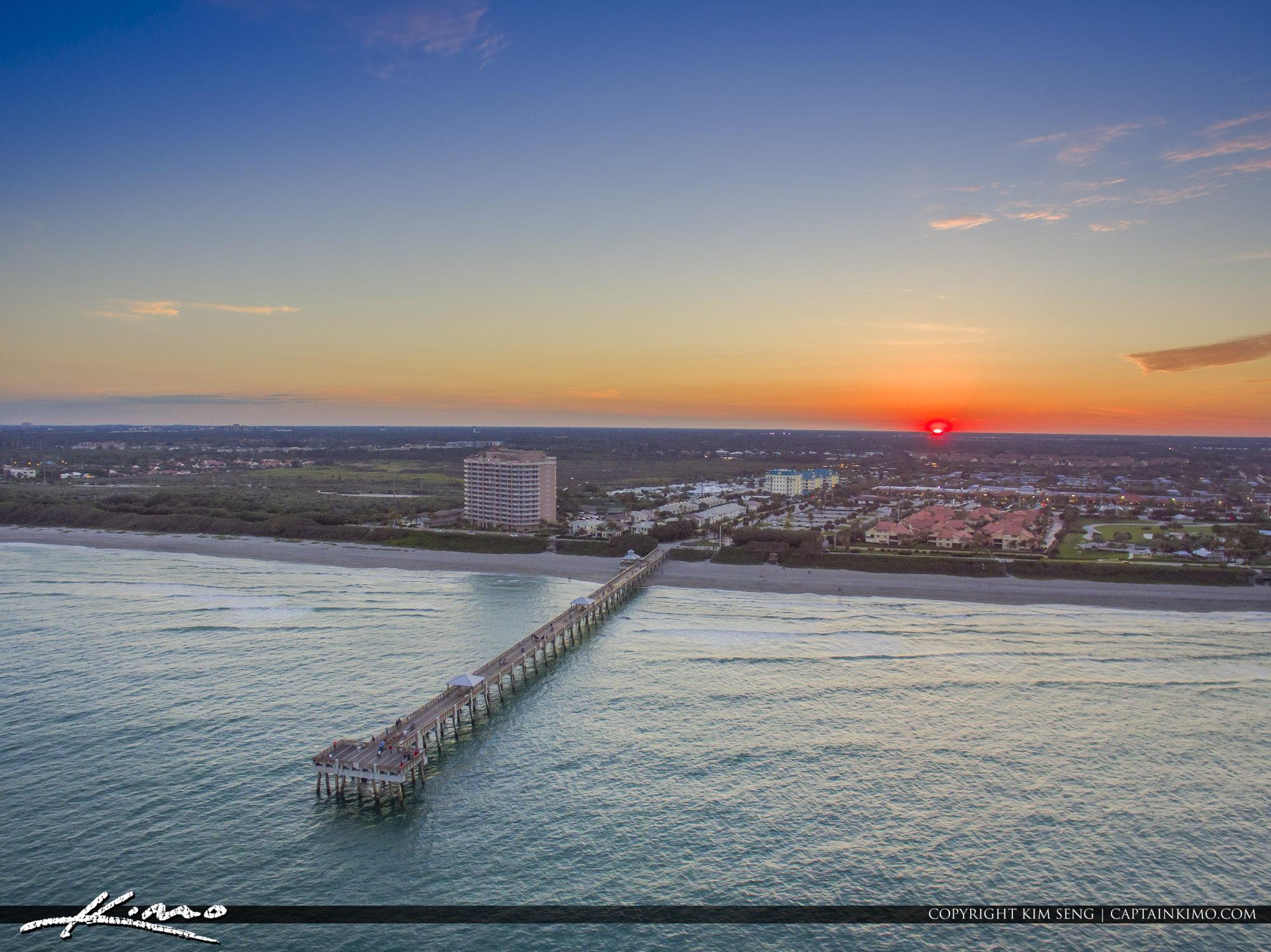 Aurora >> Juno Beach Pier Sunset from Ocean