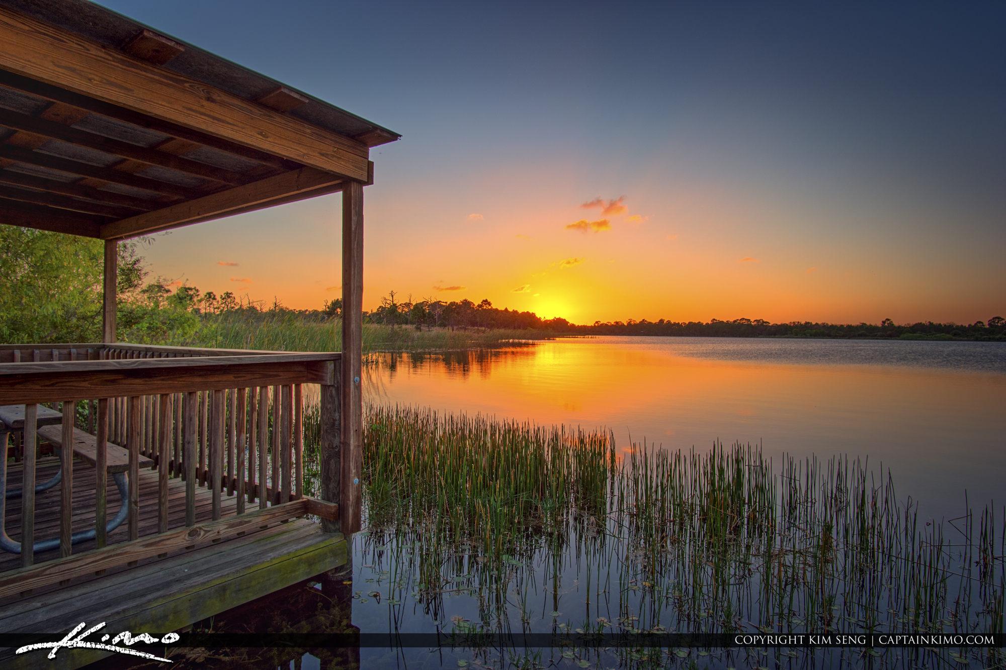 Sunset Over George LeStrange Preserve Fort Pierce Florida