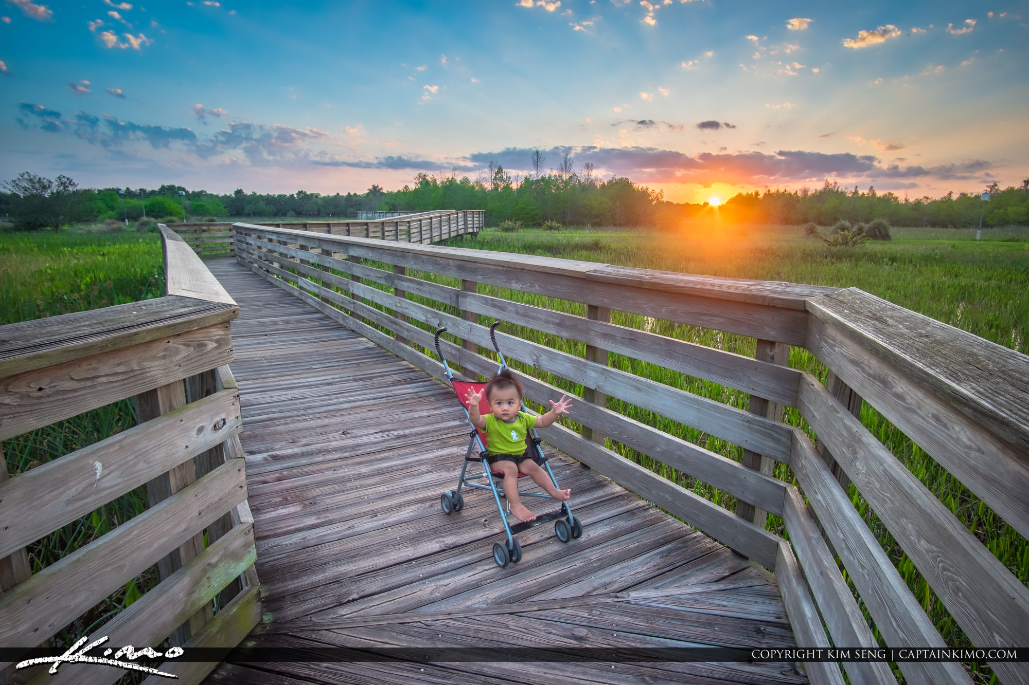 Captain Kimo Junior at Green Cay Wetlands Sunset