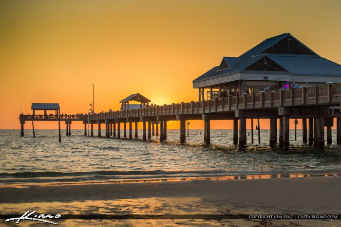 Clearwater Pier Sunset Colors