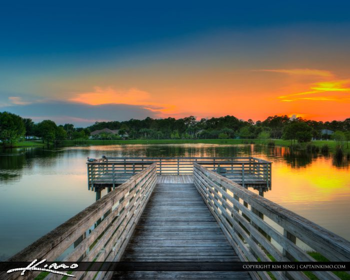Acreage Sunset at Loxahatchee Park Florida