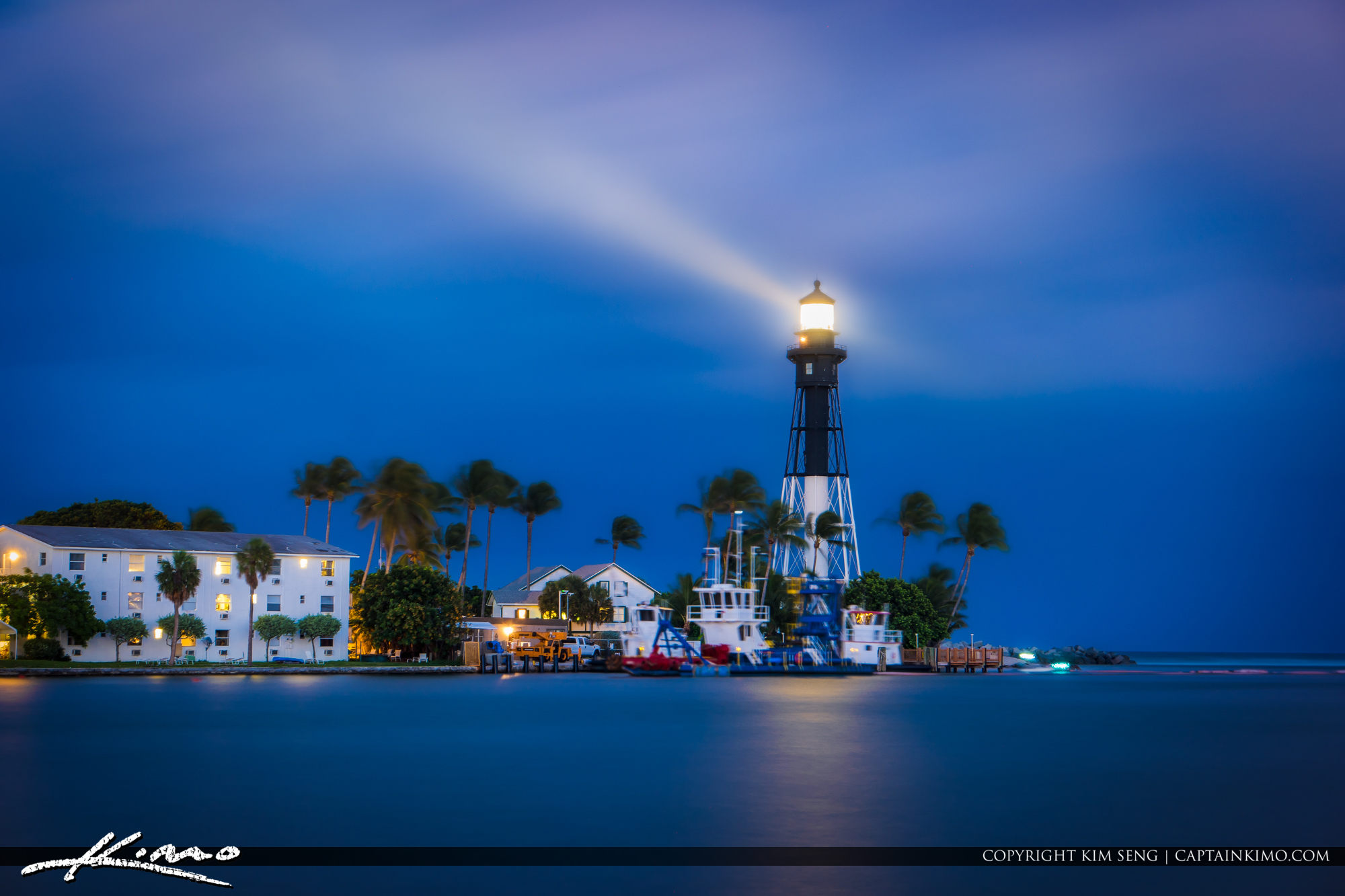 Hillsboro Inlet Lighthouse Long Exposure Aurora HDR Software