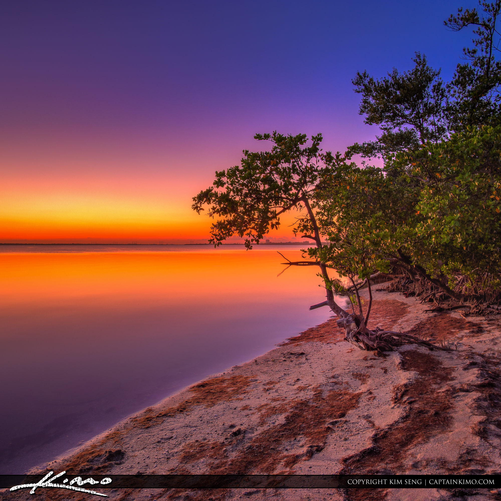 Sunset along the Indian River Hutchinson Island Fort Pierce
