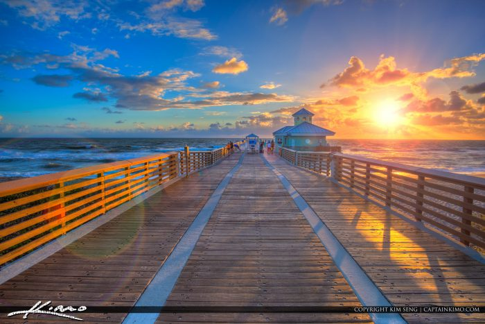 Juno beach fishing pier sunrise at the pier for Juno fishing pier