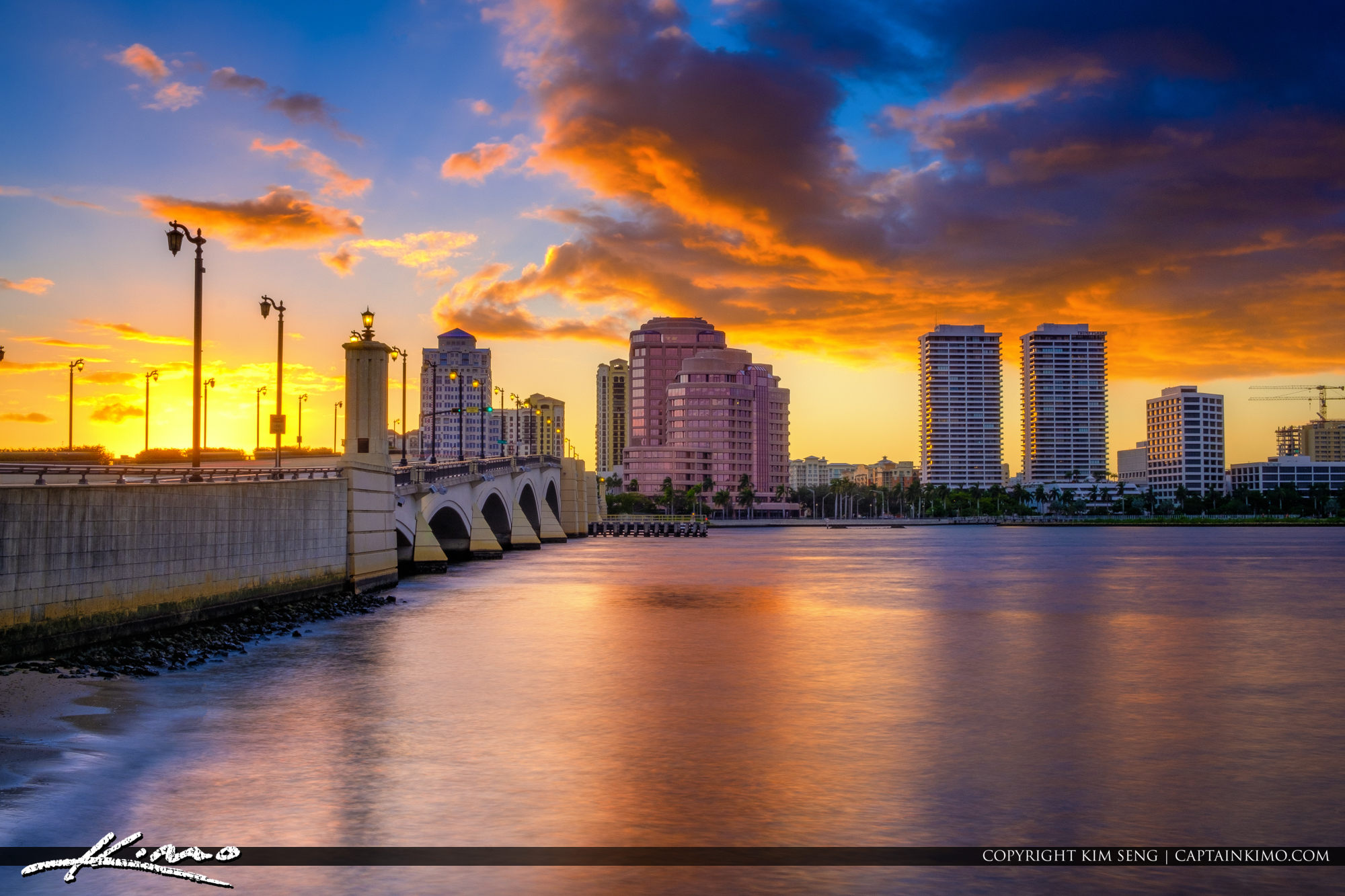 Explosive sunset from West Palm Beach Florida